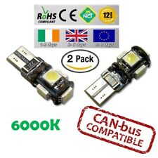 2x CanBus LED No Error 6000k HID White T10 w5w 501 194 Parking Bulbs Side Lights