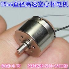 Mini 5 Pole Dc 3v 37v 19000rpm High Speed 15mm Big Coreless Electric Toy Motor
