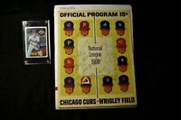 Nolan Ryan Autograph May 3, 1969 Mets Cubs Game Program + Old #533 Baseball Card