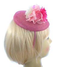 Rosa und cremefarben blume Hatinator Stirnband für Hochzeiten, Rennen