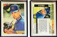 Steve Trachsel Signed 1993 Bowman #172 Card Chicago Cubs Auto Autograph