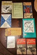Lot of Vintage Fishing & Boating Catalogs HEDDON NETCRAFT AIREX PARKER'S TEXACO