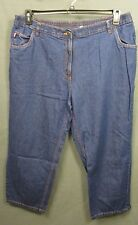 WOMAN WITHIN CLASSIC FIT plus size 22WP 100% cotton denim JEANS EUC #1332