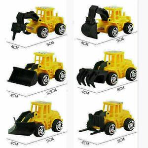 6PCS Kids Mini Construction Truck Car Toy Digger Excavator Birthday Gift
