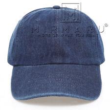 MIRMARU Summer Casual 100% Cotton Denim Baseball Cap Hat With Adjustable Strap.