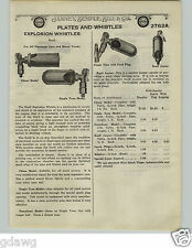 1924 PAPER AD Buell Car Auto Automobile Explosion Whistle Steamboat Chime Ford