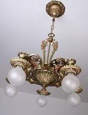 20's Antique Vintage Deco Victorian Ceiling Light Fixture CHANDELIER