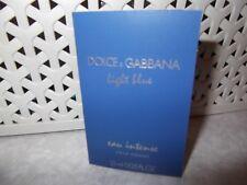 Men's Dolce & Gabbana Light Blue Pour Homme Eau Intense EDP 1 x 2ml Sample Spray