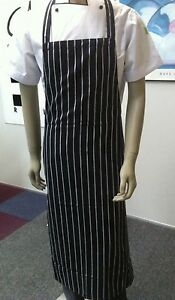 Navy Stripe Kitchen Butcher Chef Bib Apron
