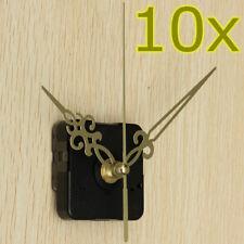 10Pcs DIY Gold Hands Wall Quartz Clock Spindle Movement Mechanism Repair Tools