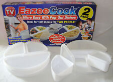 NEW 2 MICROWAVE COOKING SETS 3 SECTIONS WITH LIDS EASY & FAST! EAZEE PMS SALE !!