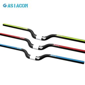 ASIACOM Carbon Mountain Riser Bike Handlebar 25.4/31.8*600-740MM 3 Colors
