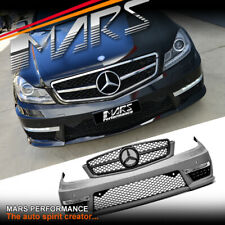 AMG C63 Style Front Bumper Bar for Mercedes-Benz C-Class W204 C204 11-14 BodyKit