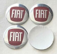 Fiat Wheel Centre curve Decal Emblem Badge Hub Caps Sticker Logo 62mm Set of 4.