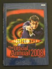 2008 BBC DR. WHO Annual - Hardcover UK exclusive book VG to EXC cond Holocover