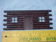 Bachmann Plasticville O/S 1 Log Cabin front piece comes in various brown colors