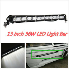 "DC 9-32V 13"" 36W CREE LED White Car Pickup 4WD Spot Light Working Slim Lamp Bar"