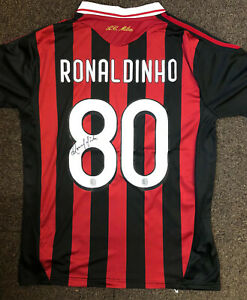 Ronaldinho Hand Signed Shirt - AC Milan