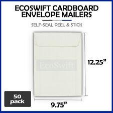 50 975 X 1225 Self Seal White Photo Ship Flats Cardboard Envelope Mailers