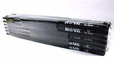 12-Pair BRICK VIC FIRTH® Nova Black 5A Wood Tip DRUM STICKS N5AB Hickory Bulk
