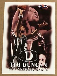1998-99 TIM DUNCAN NBA HOOPS CARD #50 SAN ANTONIO SPURS