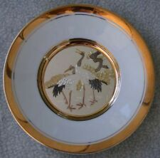 Japanese Floral Calendar Collection Chokin Plate-New Year's Day-Pine and Crane