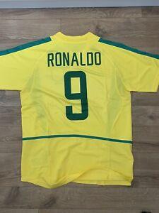 Ronaldo 9. Brazil 2002 World Cup Home Football Shirt. BNWT