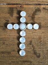Kreuz/Cross/750 Weißgold_Mondstein o. Muschel/28 Diamanten/diamond 1930-1950