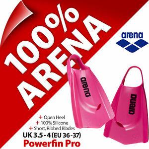Arena Powerfin Pro Swim Fins Flippers Leg Kick Training Size UK 3.5 - 4 EU 36-37