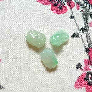 3 Carved Jadeite Jade Grade A Natural Myanmar Burma Pixiu