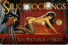 Silk Stockings Pin-Up Metal Sign ( Greg Hildebrandt )