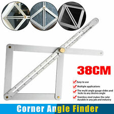Stainless Steel Corner Angle Finder Ceiling Artifact Tool Square Protractor 38cm