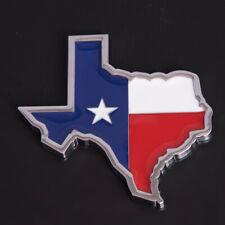 Chrome Metal Texas Star State Flag Car Truck Badge Emblem for Ram Silverado