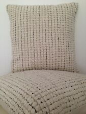 2 X Vanilla Macrame Moroccan Cotton Square Indoor Pillow Cushion Home Decor Boho