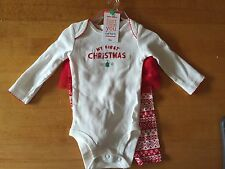 Carters Just One You My First Christmas 2 Piece Outfit w/ Tutu Size 3 Months NWT