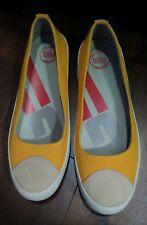 FITFLOP Flatforms Comfort Platform Shoes Slip On Orange Brown White 41 10.5 Mint