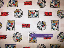 Disney Classic Mickey Mouse Cartoon Minnie Frame Cotton Fabric BY THE HALF YARD