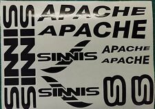 Sinnis Apache Decals/Stickers ALL COLOURS AVAILABLE 125 50 250 rs supermoto