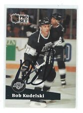 Bob Kudelski Signed 1991/92 Pro Set French Card #99