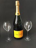 Veuve Clicquot Brut Champagner Magnum Flasche 1,5l 12% Vol + 2 Veuve Gläser