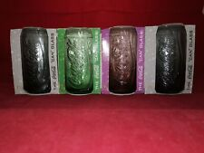 More details for mcdonalds coca cola 'can' glasses 2008-collectable. 1 x lilac 1 x green 2 x grey