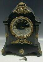 1 Extra Shelf Clock with Dome 1874 Antique Ansonia Crystal Palace No