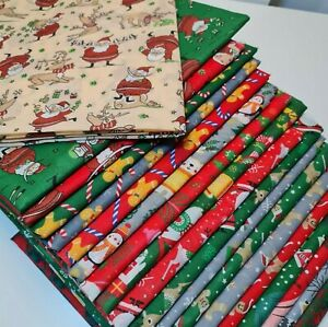 NEW Christmas printed Polycotton Quality Material Poly Cotton fabric per Metre