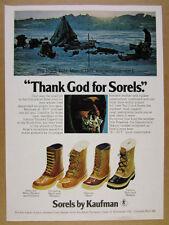 1977 Sorel Arctic Pac Chugalug Premium & Caribou Boots photo vintage print Ad