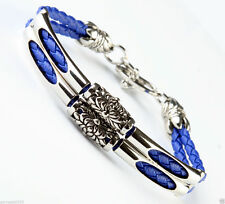 Silver Plated Leather Costume Bracelets without Stone