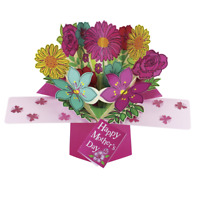 Happy Mother's Day Bunch Flower Pop-Up Greeting Card Second Nature Pop Up Cards