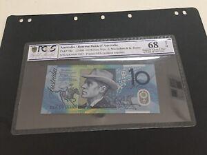 Australia 2006 $10 Macfarlane/Henry First Prefix AA06 Superb Gem UNC ,PCGS 68!!