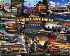 Classic American Diner Collage Metal Sign
