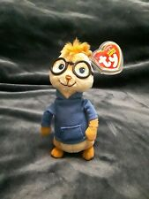 Simon Chipmunk TY Plush Squeakquel With Tag 2013