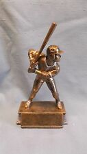 male Baseball gold statue trophy resin award by Freeman small